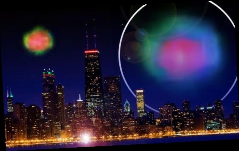 UFO sighting: 'Rainbow coloured alien craft' spied over Lake Michigan
