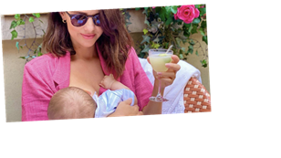 Lucy Mecklenburgh opens up on the struggles of breastfeeding as she says son Roman 'bites' her