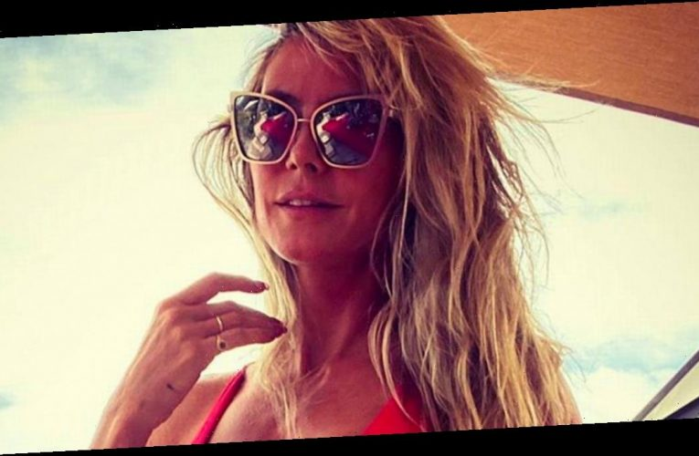 Heidi Klum flashes nipples as she strips totally naked for eye-popping display