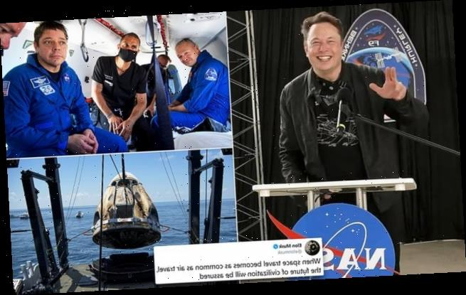 'I prayed for this one': Emotional Elon Musk welcomes home astronauts