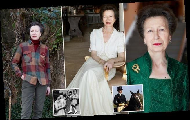 Princess stuns in three new portraits to mark turning 70