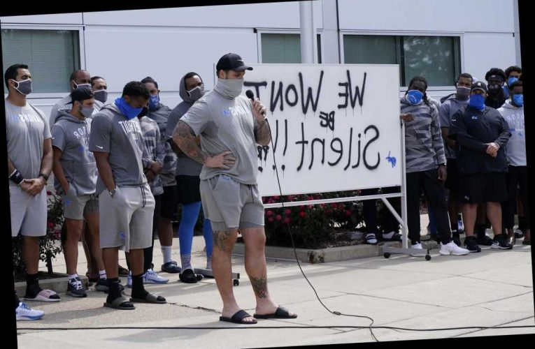 NFL team halts practice to bring attention to police shooting