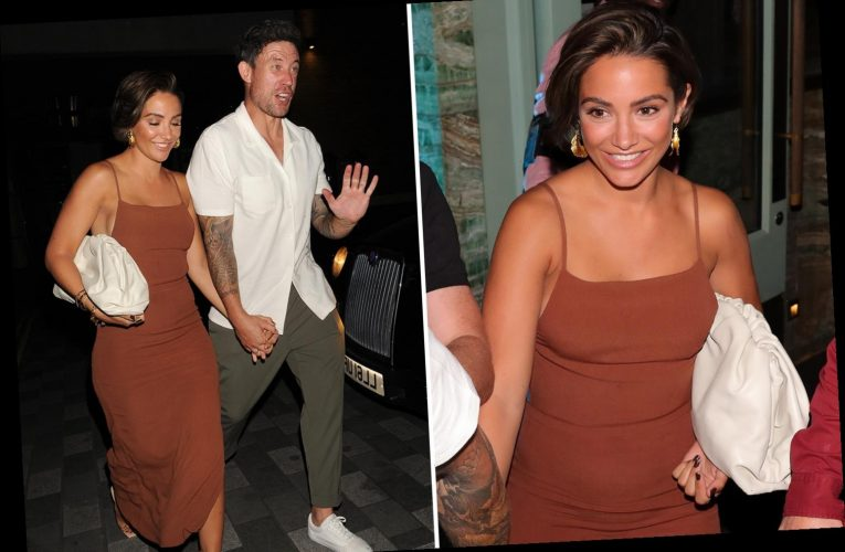 Wayne and Frankie Bridge look all partied out as they leave his 40th birthday in London