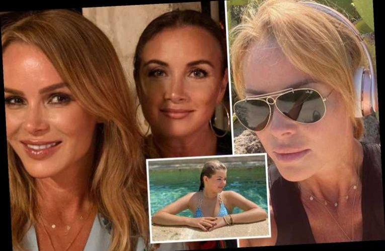 Amanda Holden enjoys sun-soaked girls' trip to Italy with lookalike daughter and pal