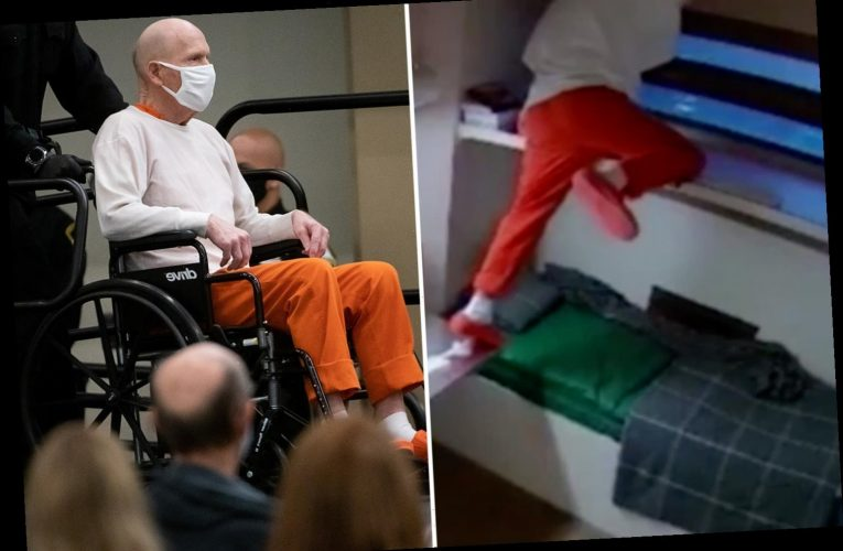 Golden State Killer, 74, seen exercising in cell and climbing on furniture – before looking frail for court appearances