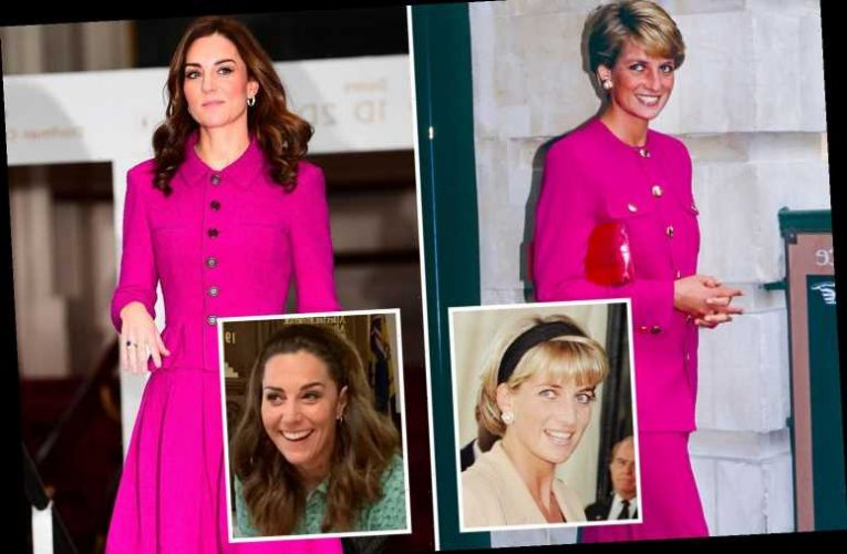 All the times Kate Middleton has borrowed from 'style sister' Diana's look and she'll never let that velvet headband go