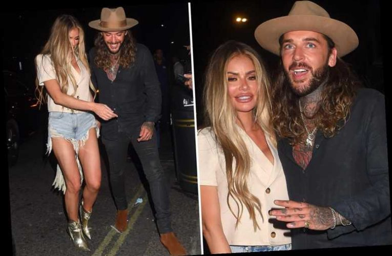 Towie's Chloe Sims gets cosy with best pal Pete Wicks on night out in London's posh Mayfair