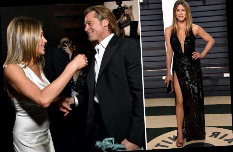 Jennifer Aniston boasts she'll live 'into her 100s' as she reunites with ex Brad Pitt for table read