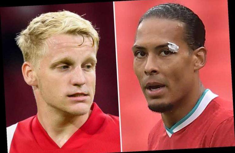 Van Dijk calls van de Beek's Man Utd transfer a 'great step' as Liverpool star puts rivalry aside for Holland pal
