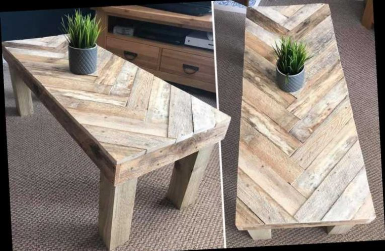 Woman creates stunning coffee table from pallet wood & people are desperate to copy