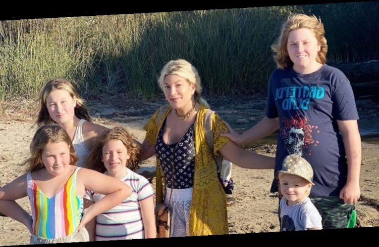 Loving Life! Tori Spelling's Family Enjoys Beach Vacay Before School Starts