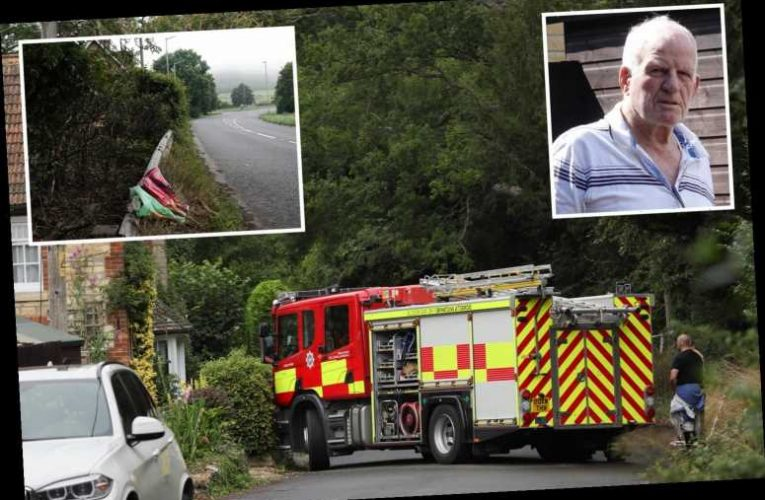 Four young men killed in crash heard screaming 'help us' after their car smashed into house and burst into flames