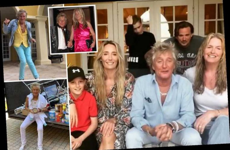 Inside Rod Stewart and Penny Lancaster's Florida mansion with white arched doors, golden mirrors and vintage furniture