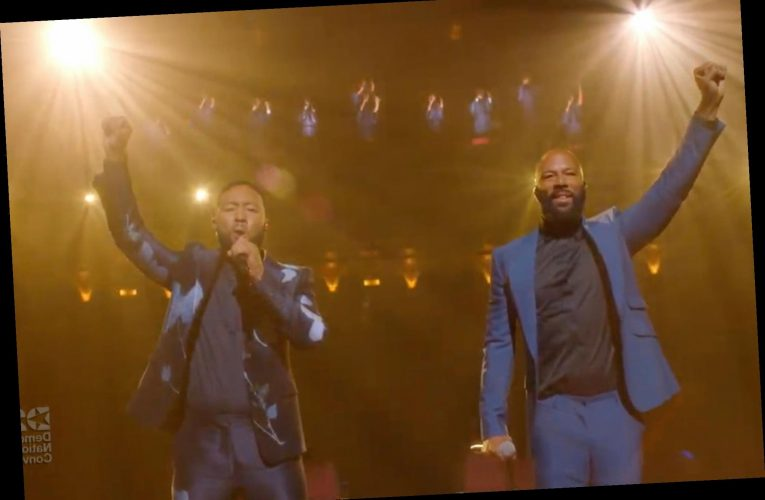John Legend and Common perform 'Glory' at DNC in honor of John Lewis