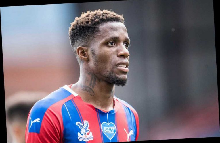 Wilfried Zaha 'sparks three-way transfer scrap between PSG, Dortmund and Monaco as he plans to quit Crystal Palace'