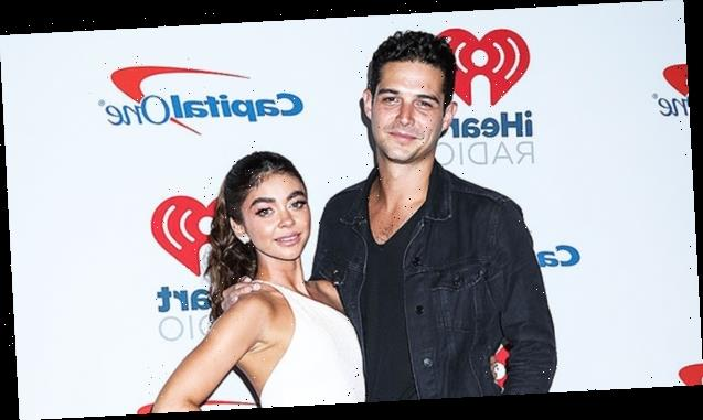 Sarah Hyland Stuns In Bridal White While Celebrating Would-Be Wedding Day With Wells Adams