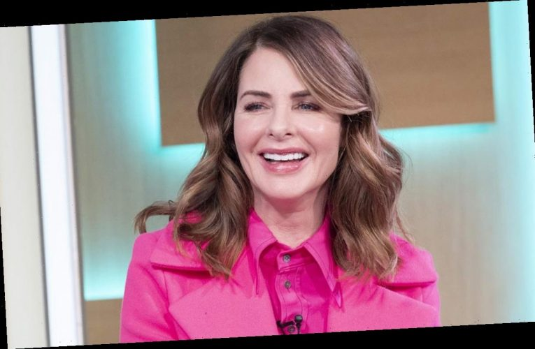 This Morning's Trinny Woodall is a vision in vibrant purple Zara outfit