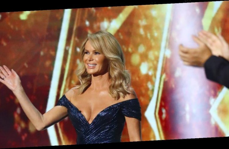Amanda Holden wows BGT fans as she teases cleavage in plunging thigh-split dress