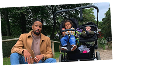 Ashley Banjo shares sweet snap of his two children which he jokes will 'confuse the racists'