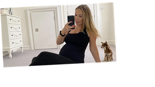 Kate Ferdinand candidly admits she's 'struggling' as she opens up on the 'realities' of pregnancy