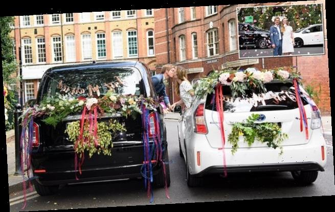 Couples tie the knot at the UK's first drive-through wedding service