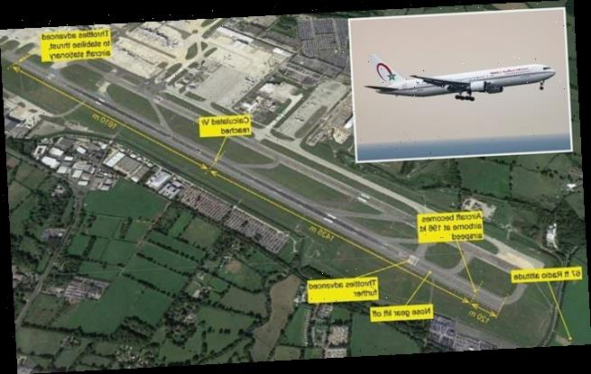 Plane with 139 passengers ONE SECOND of careering off Gatwick runway