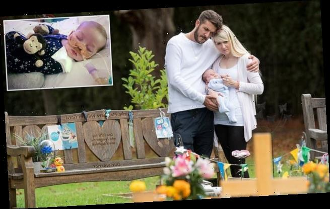 Baby Oliver's first visit to Charlie Gard's 'forever bed'