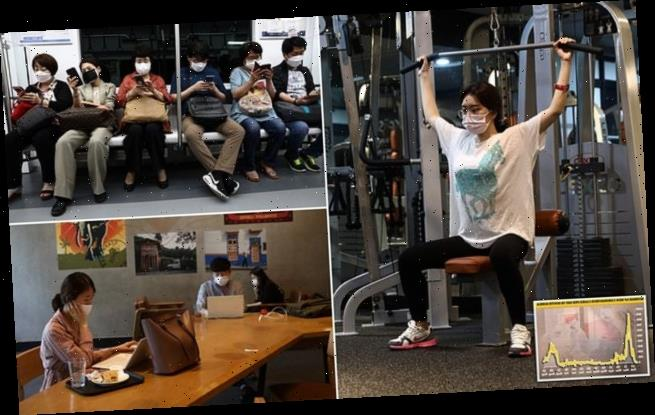 South Koreans return to gyms and coffee shops