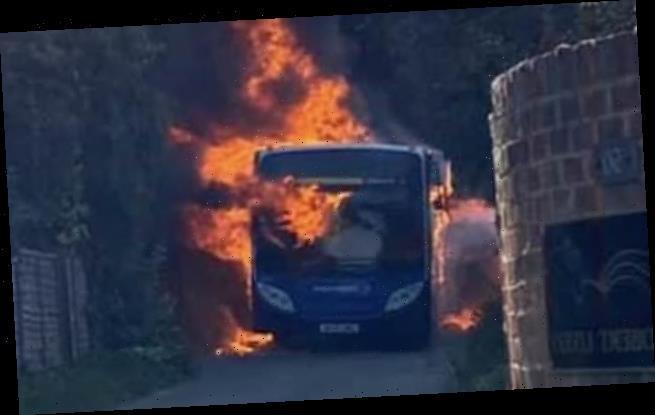Don't tell teacher: pupils set school bus on fire