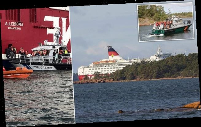 Baltic Sea ferry with nearly 300 on board runs aground in Finland
