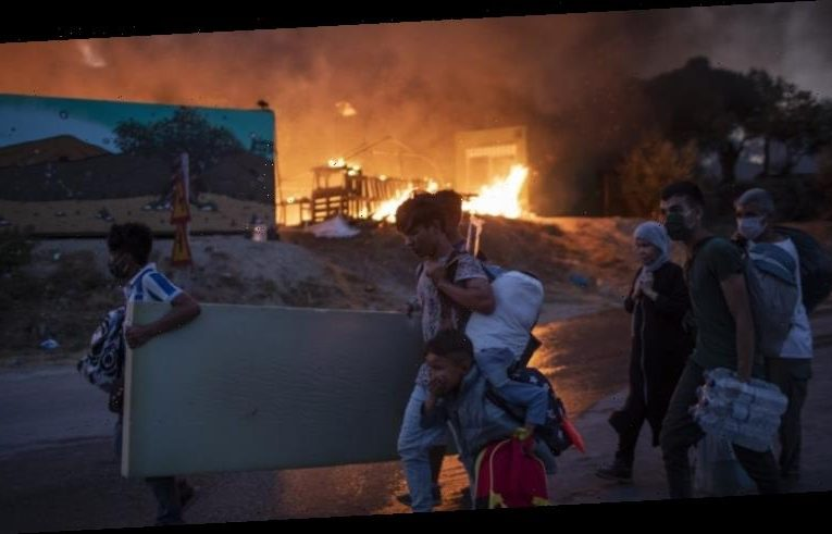 Under lockdown, Europe's largest migrant camp destroyed by fire