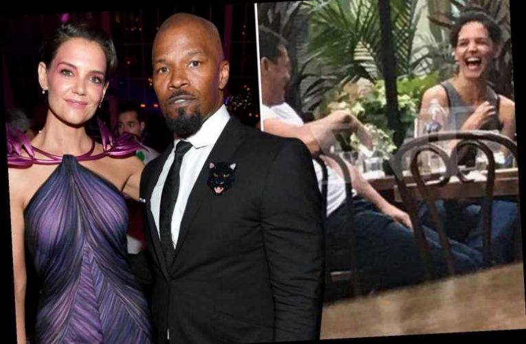Katie Holmes giggles with handsome mystery man on dinner date one year after split from Jamie Foxx