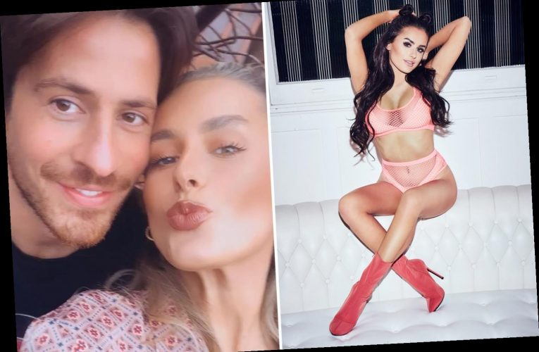 Love Island's Amber Davies wows in mesh lingerie after showing off her new man Nick