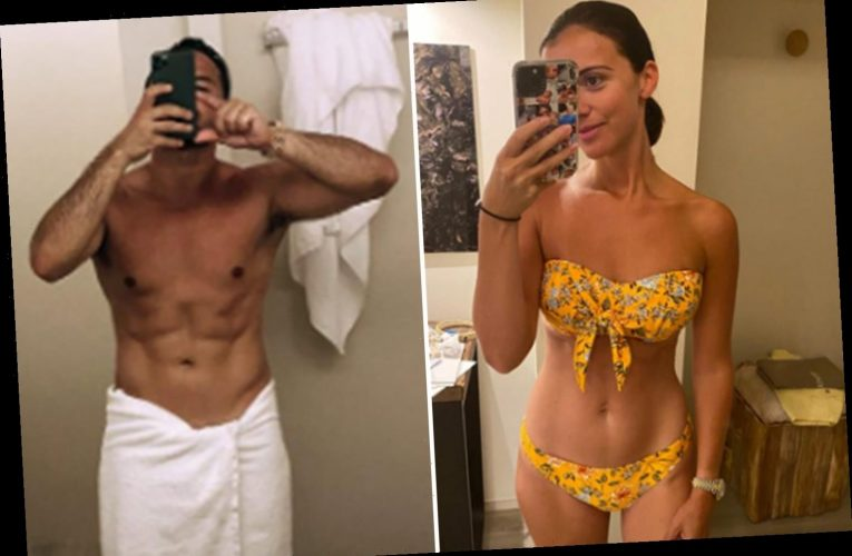 Lucy Mecklenburgh shows off amazing figure just five months after giving birth as fiance Ryan Thomas reveals six pack