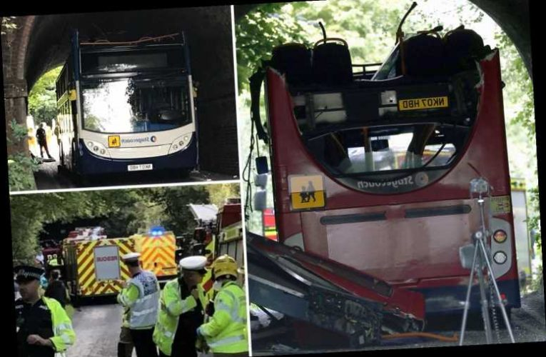 Terrified kids feared they were 'going to die' as school bus driver 'on first day' crashed into railway bridge – The Sun