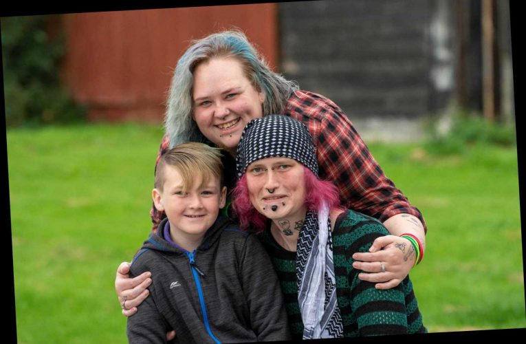 Britain's first gender fluid family hits milestone as biological dad has sex change operation to become mum