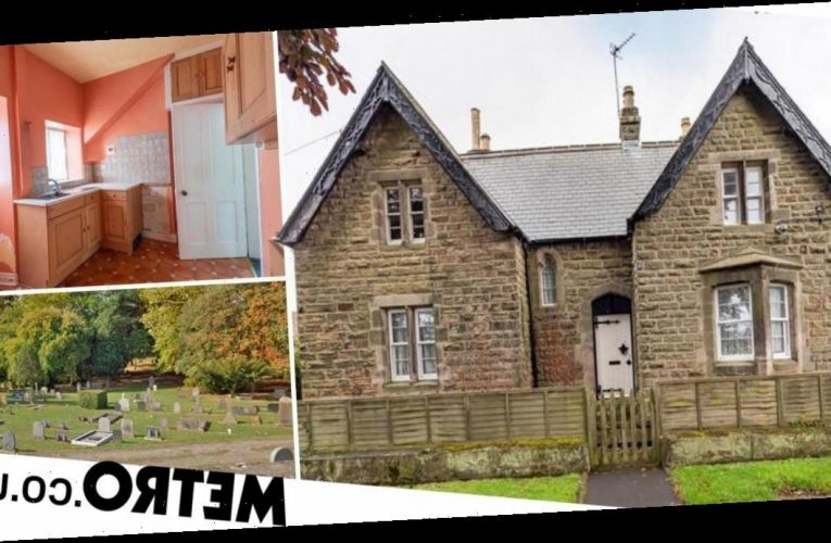 Three-bedroom house next to a graveyard goes on sale with a free burial plot