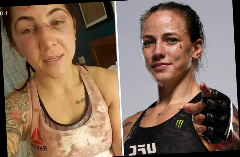 UFC star Jessica-Rose Clark apologises to opponent Sarah Alpar for smashing face in just three weeks before wedding