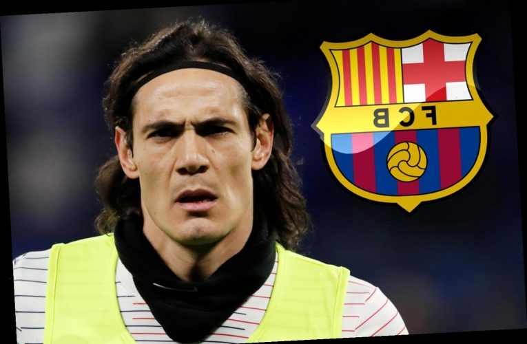 Edinson Cavani 'wants free Barcelona transfer as striker offers services to replace Luis Suarez up front'