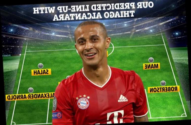 How Liverpool could line-up with Thiago Alcantara in midfield with Jurgen Klopp having three new formations to use