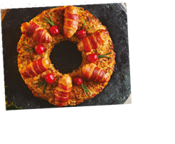 Sainsbury's Christmas 2020 food includes a pigs in blankets stuffing wreath