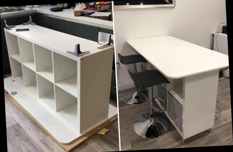 Crafty mum builds her own dining table out of Ikea & Amazon bargains as she didn't want to fork out for a designer one