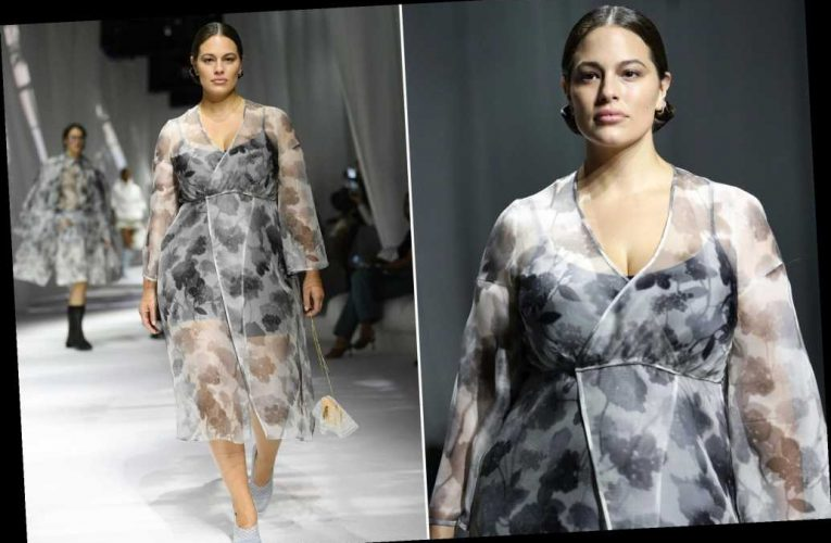 Ashley Graham makes her runway return after giving birth in January
