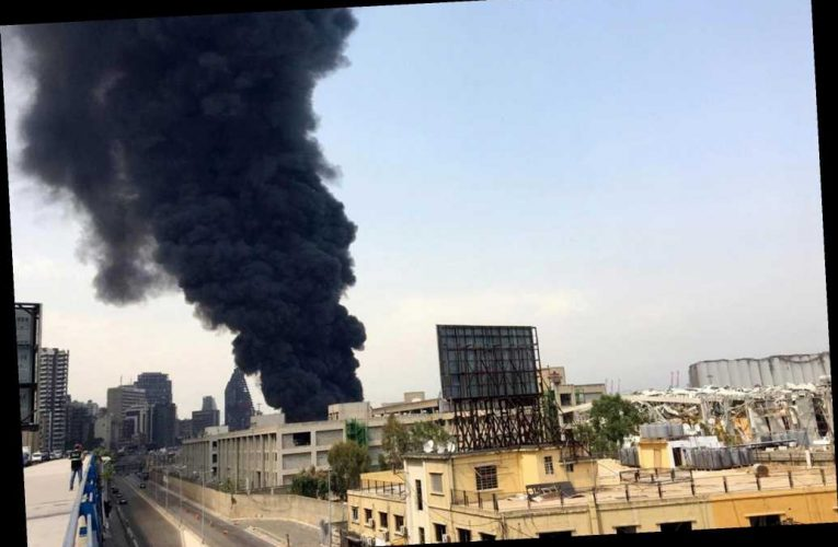Huge fire breaks out at Beirut port a month after massive explosion