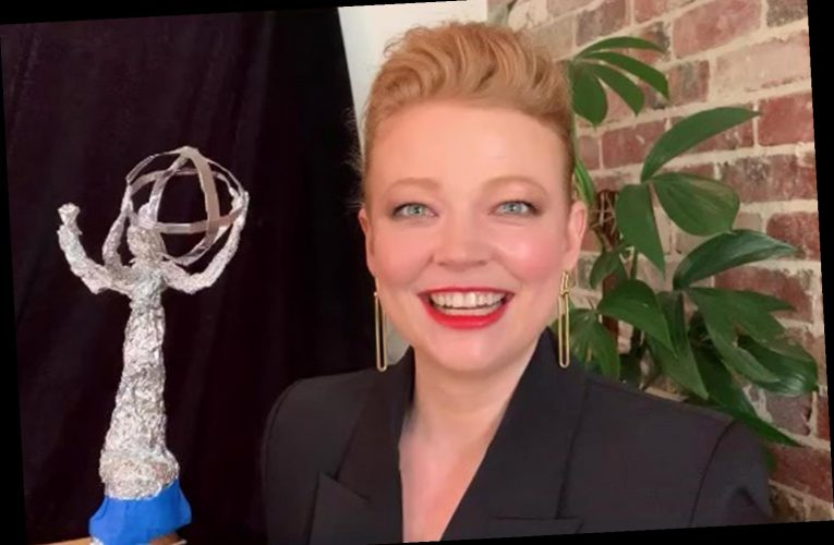 Succession Star Sarah Snook Shows Off a Homemade Tin-Foil Trophy at 2020 Emmys