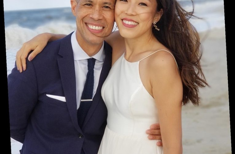 CBS News' Vladimir Duthiers Weds Longtime Love Marian Wang on Fire Island Beach — See the Gorgeous Photos