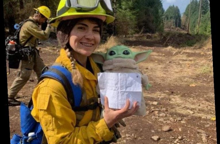 Adorable Baby Yoda Keeps First Responders Company amid Calif. Wildfires