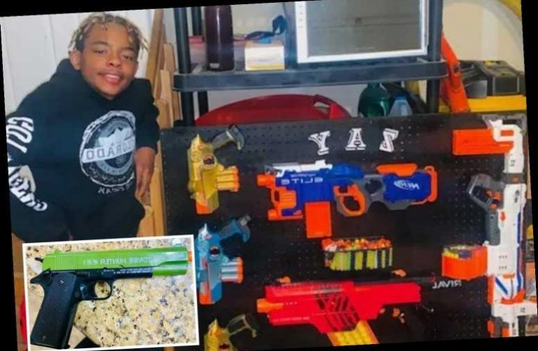 Seventh-grader suspended and cops called after teacher spots 'zombie hunter' toy gun in virtual class