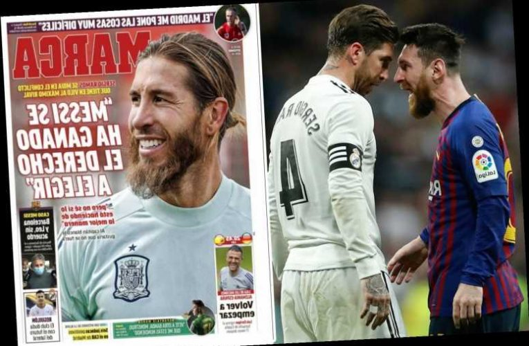 Sergio Ramos warns Lionel Messi he is going about Barcelona exit in wrong way and admits he 'wants him to stay'