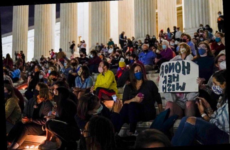 Vigil outside US Supreme Court building after death of RBG